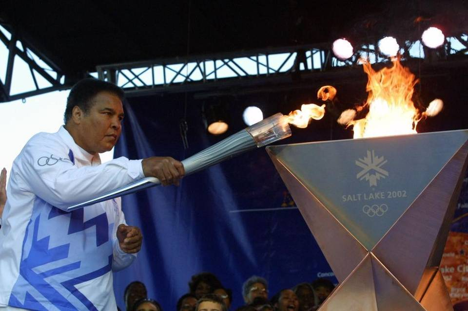Muhammad Ali and torch